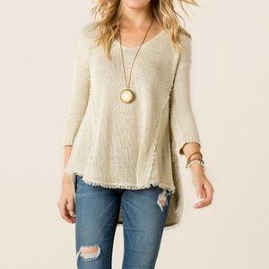 Quinn Boho Fringe Sweater